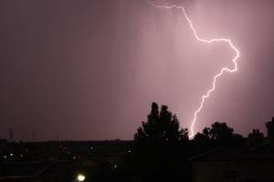 lightening in Johannesburg South Africa